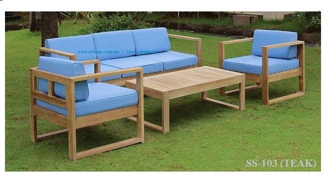 Teak Garden Sofa Set Ss 103teak Zebano