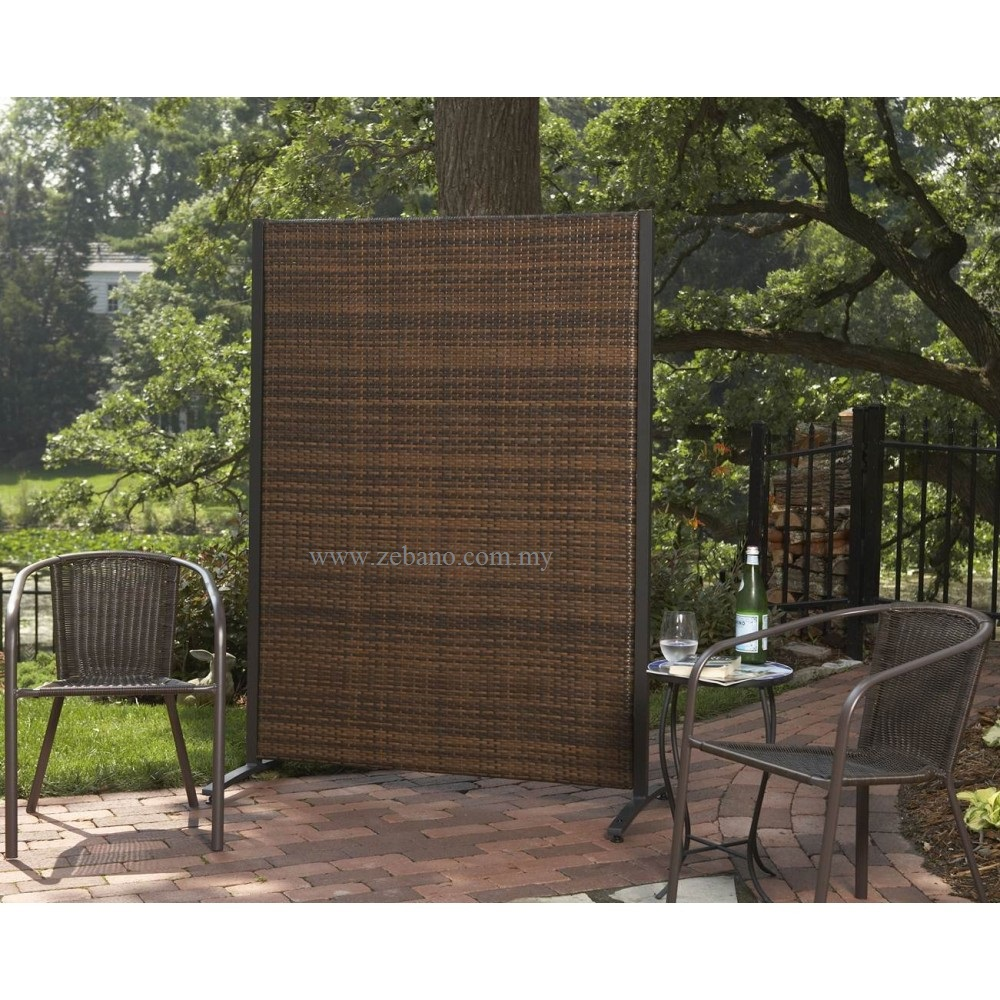 Wicker panels divider acs 1707 zebano for Lawn divider