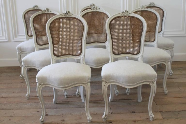 Svintage French Cane Back Dining Chair