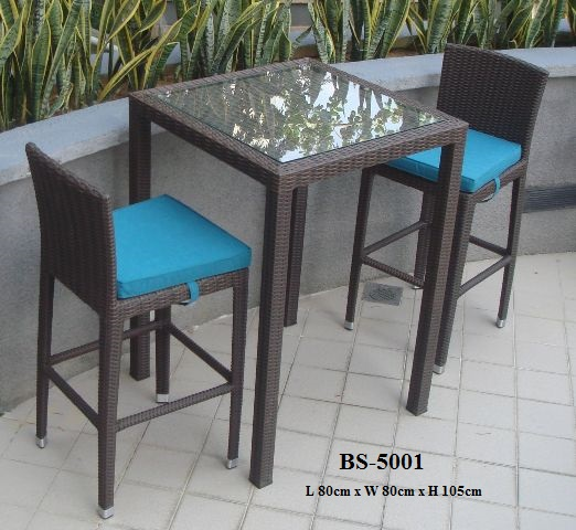 Wicker Bar Set Bs-5001