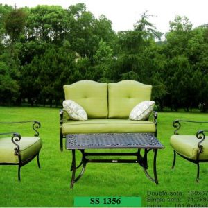 Cast Aluminum Outdoor Sofa Set SS-1356