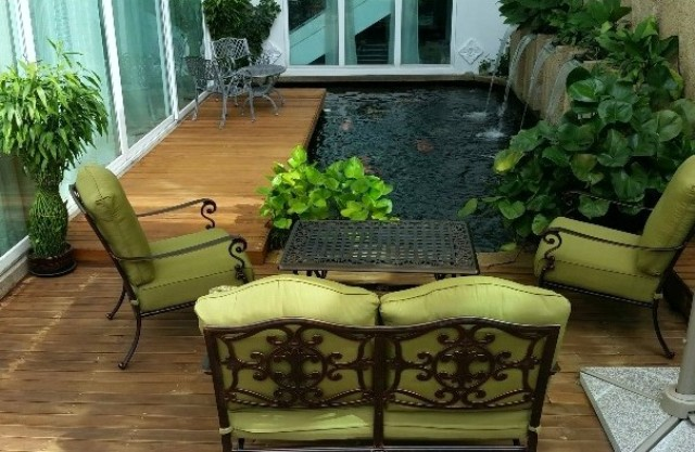 Cast aluminum outdoor Sofa set