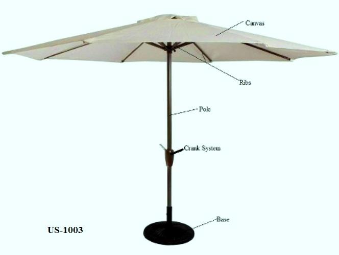 Center Pole Patio Umbrella US-1003