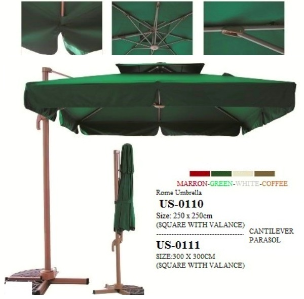Commercial cantilever umbrella