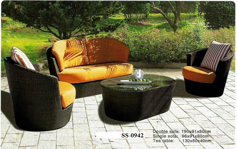 Contemporary Wicker Sofa SS-0942