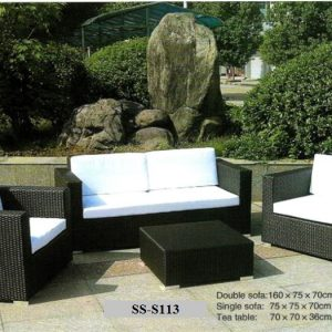 Garden Wicker Sofa Set SS-S113