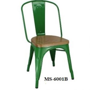 Metal Chair Wooden Seat MS-6001B