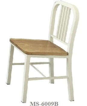 Cafe Metal Chair Wood MS-6009B