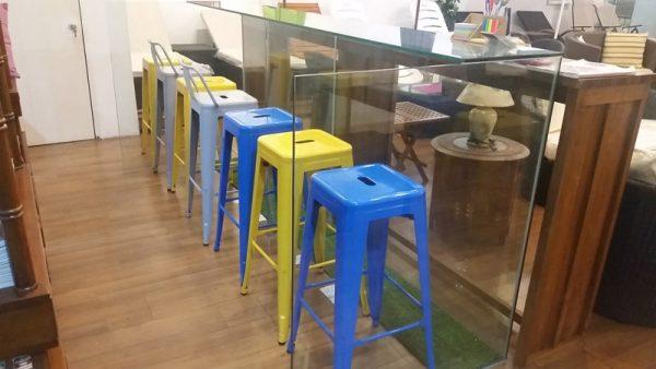 Metal bar stool MS-6015