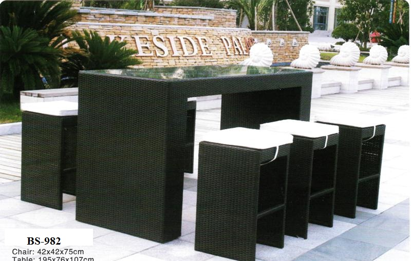 Outdoor Rattan Bar Set BS-982