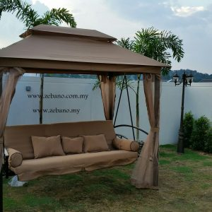 Outdoor Swing Bed With Net SHS 196 Zebano (1)
