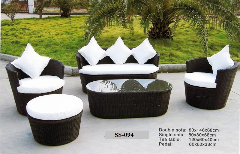 Outdoor Wicker Deck Sofa Ss-094