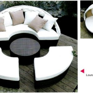 Outdoor Wicker Day Bed 4pc Set LS-333