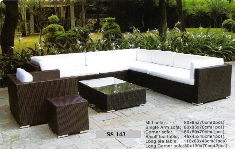 Outdoor Wicker Sectional Sofa Ss-143