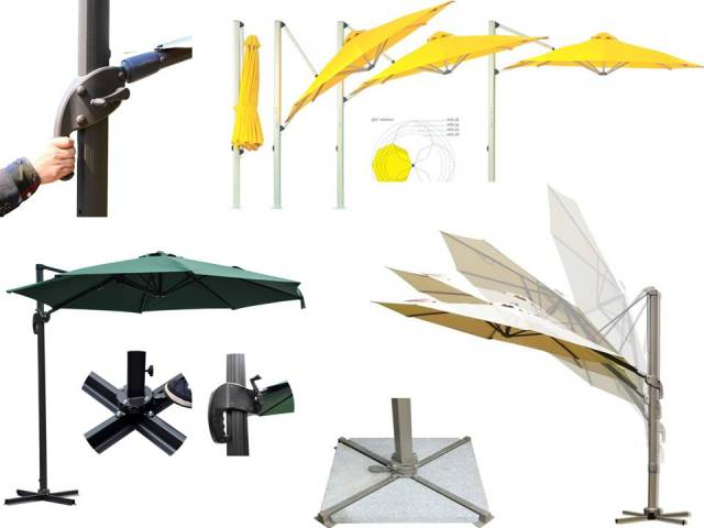 Zebano garden Umbrella