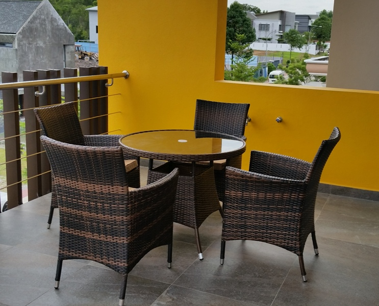 Patio wicker dining set DS-028D