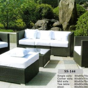 Pool Deck Rattan Sofa Ss-144