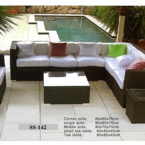 Rattan Corner Sofa Set Ss-142