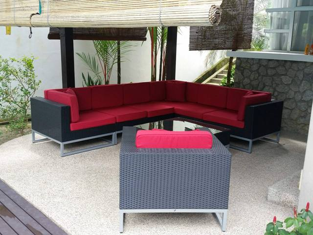 Sectional Patio Wicker Sofa