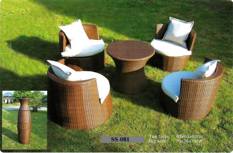 Space Saver Rattan Sofa Set SS-081