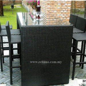 Synthetic Wicker Outdoor Bar Set BS-982b