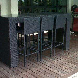 Synthetic Wicker Outdoor Bar Set BS 982b @ Bangsar Jln Ara