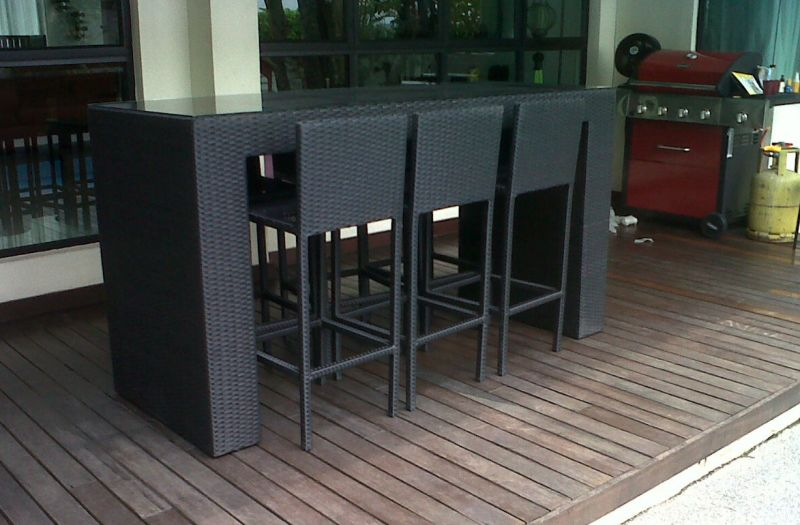 Synthetic Wicker Outdoor Bar Set BS 982b @ Bangsar Jln Ara