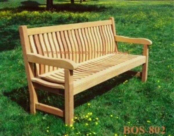 Teak Garden Bench 3 Seater BOS-802