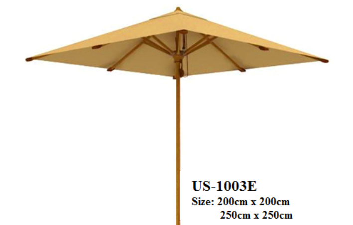 Teak Ocean Umbrella Square US-1003E