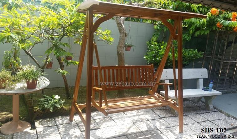 Teak garden swing SHS-T02