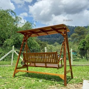 Teak Wood 3 Seater Swing SHS T02 Zebano (2)
