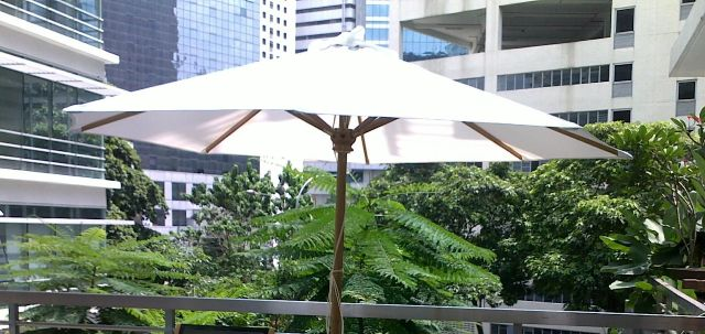 Teak Wood Umbrella With Base