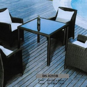 Wicker Rattan Dining Set DS-0293B