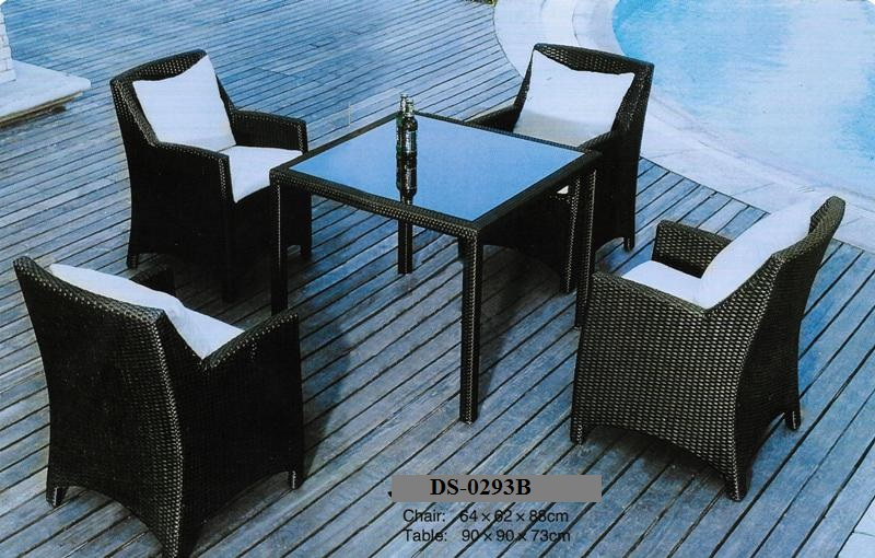 Wicker Rattan Dining Set DS-0293B