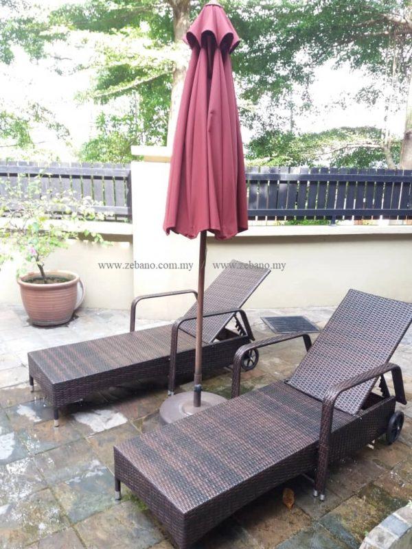 Wicker rattan swimming pool lounger LS-0171 (2)