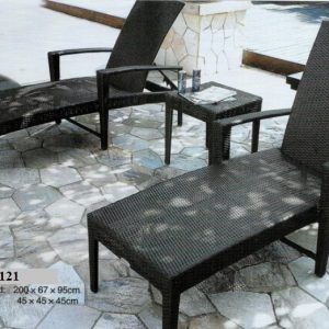 Wicker Sun Lounger Set LS-T121