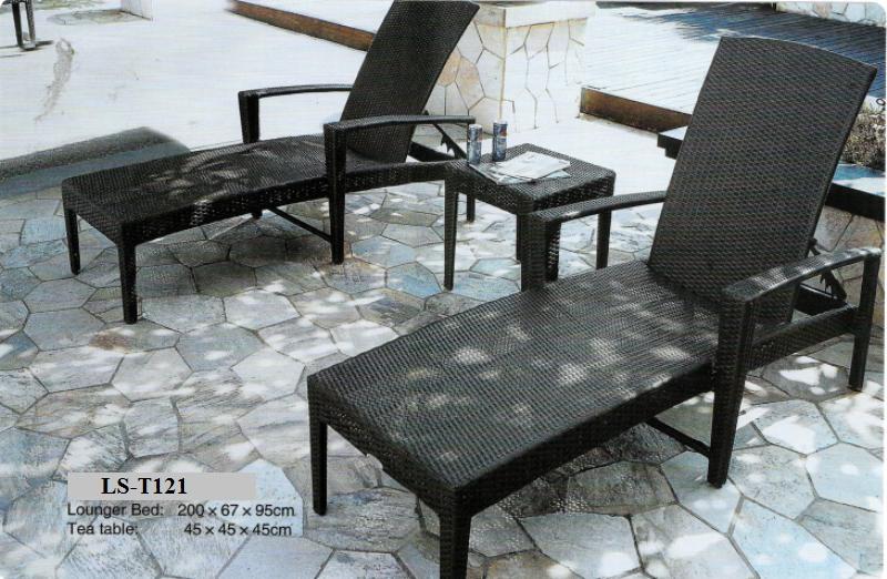 Wicker Sun Lounger Set LS-T121