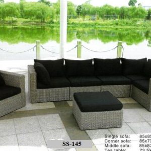 Zebano Royal Wicker Outdoor Sofa SS-145