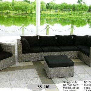 Zebano Royal Wicker Outdoor Sofa SS-145