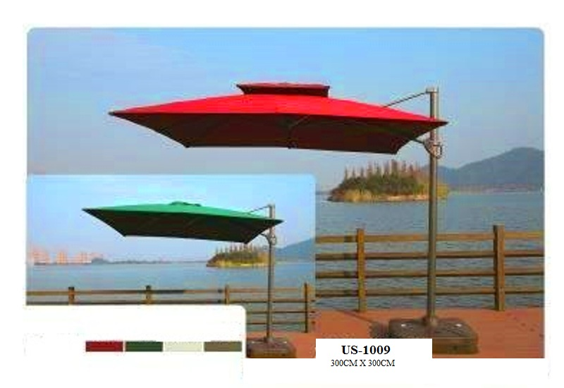 Heavy Duty Cantilever Parasol Hotell Pool Umbrella
