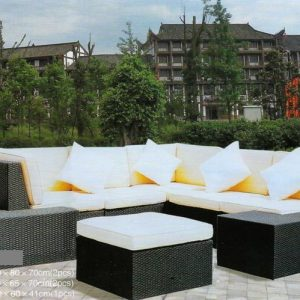 Outdoor Wicker Deck Sofa Ss-148