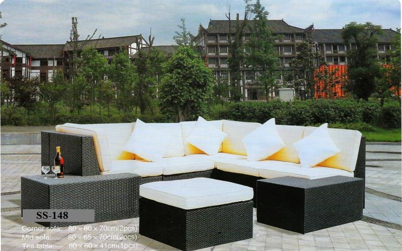 outdoor Wicker Deck sofa