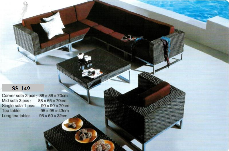 Sectional Outdoor Wicker Sofa Ss-149