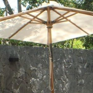 Square Teak Umbrella Zebano