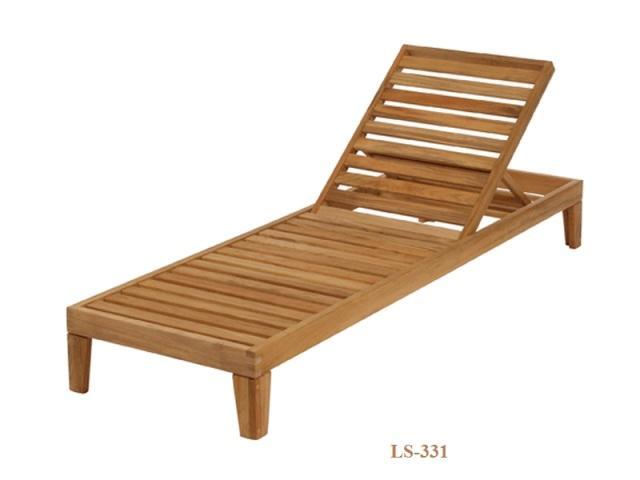 Teak Wood Sun Lounger LS-331