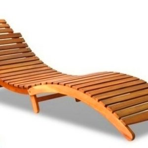 Zebano Teak Pool Lounger LS-332