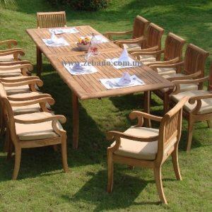 12 Seat  Luxurious Teak Patio Dining Set