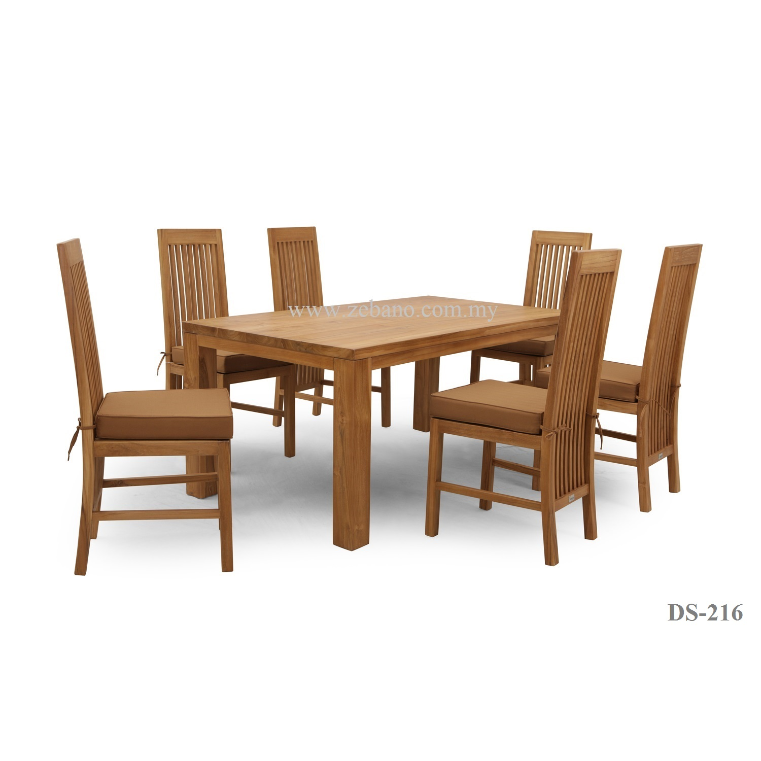 6 seater teak wood dining set