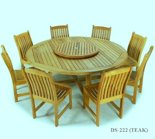 8seater Round Dining-table-set DS-222