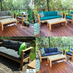 Contemporary Teak Deck Sofa SS 108